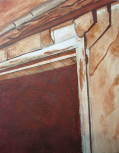 Door detail - Underpainting