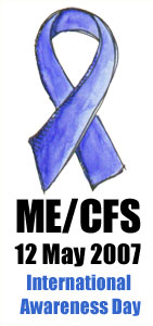 ME CFS Awareness WhiteBack Medium