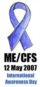 ME CFS Awareness WhiteBackMedium