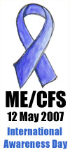 ME CFS Awareness WhiteBack Small