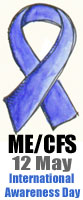 ME/CFS Awareness Ribbon - Small