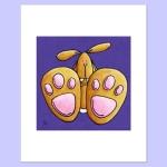 bunny feet 10x8 X