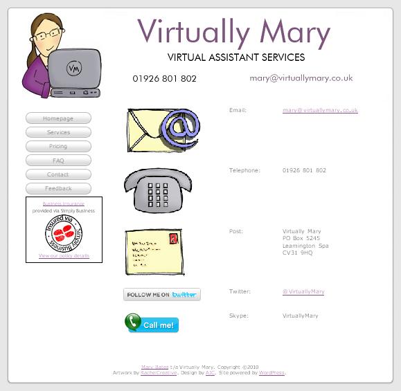 Contact - Virtually Mary Web Site