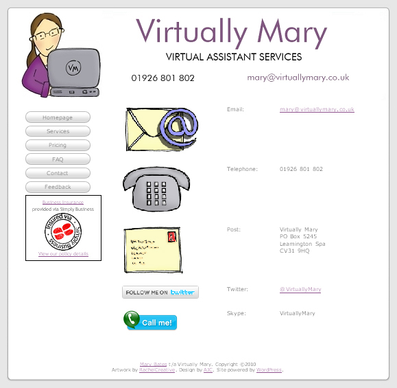 Contact - Virtually Mary Web Site