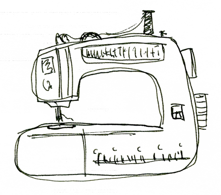 Sewing Machine - Drawing
